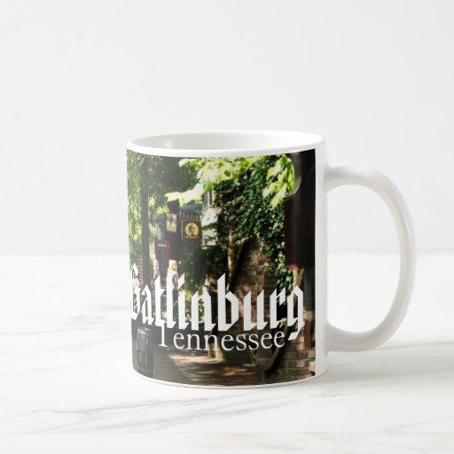 Gatlinburg, Tennessee - Village Square shopping Coffee Mugs
