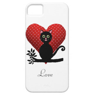 gato del amor iPhone 5 protectores