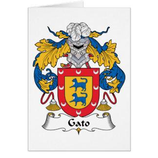 Gato Family Crest Card