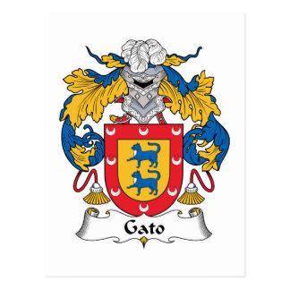 Gato Family Crest Post Card
