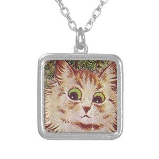 Gato Square Pendant Necklace