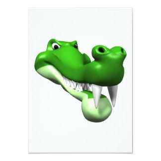 Gator 13 Cm X 18 Cm Invitation Card
