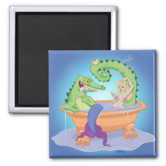 Gator and Mermaid Magnet