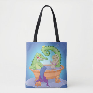 Gator and Mermaid Tote