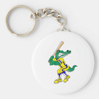 Gator Baseball Basic Round Button Key Ring