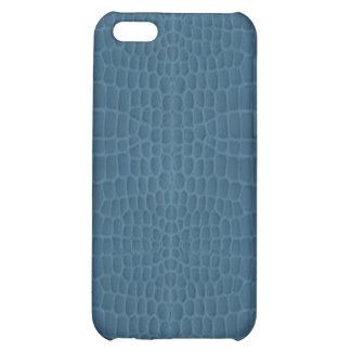 Gator Blue Simulated Leather iPhone5 Case iPhone 5C Cases