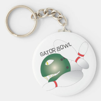 Gator Bowl.ai Basic Round Button Key Ring