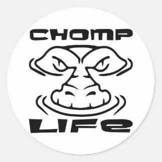 Gator Chomp Life Classic Round Sticker