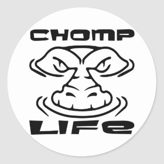 Gator Chomp Life Round Sticker
