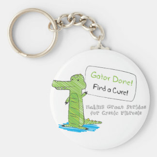 Gator Done! Basic Round Button Key Ring