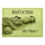 Gator - Green In Duckweed Invitations