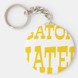 Gator Hater Athletic Gold design Basic Round Button Key Ring