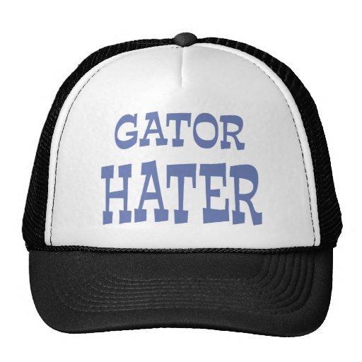 Gator Hater Baby Blue apparel design Mesh Hats