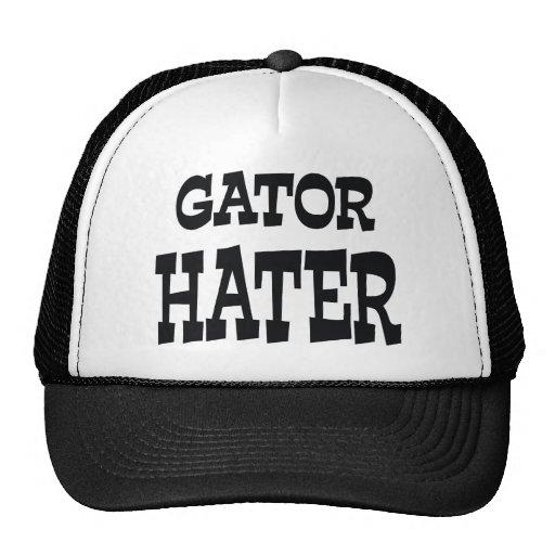 Gator Hater Black apparel design Mesh Hats
