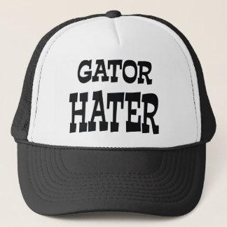 Gator Hater Black apparel design Trucker Hat