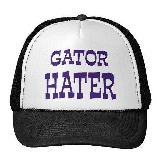 Gator Hater Blue apparel design Trucker Hats