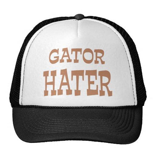 Gator Hater Bronze apparel design Mesh Hats
