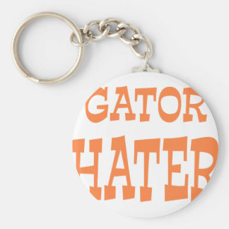Gator Hater Burnt Orange design Basic Round Button Key Ring
