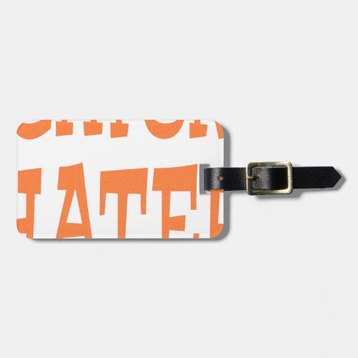 Gator Hater Burnt Orange design Tag For Luggage