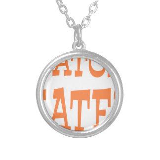 Gator Hater Burnt Orange design Necklace