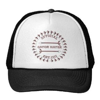 Gator-Hater-est-garnet Mesh Hats