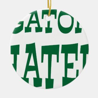 Gator Hater Grass Green design Christmas Tree Ornament