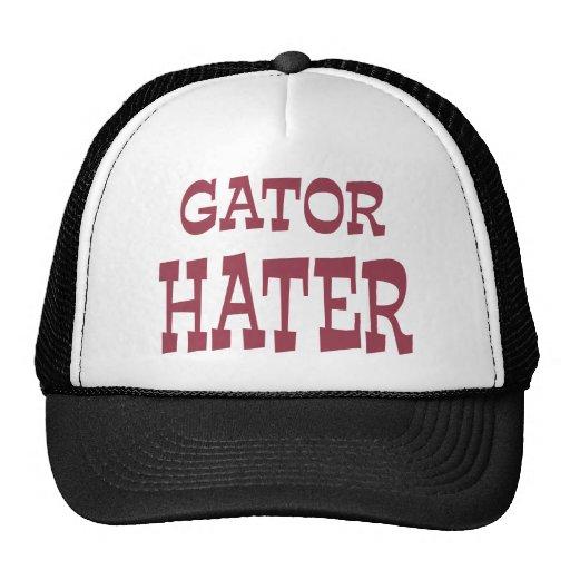 Gator Hater Maroon apparel design Hats
