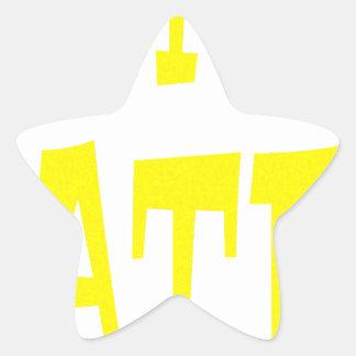 Gator Hater Yellow design Star Sticker