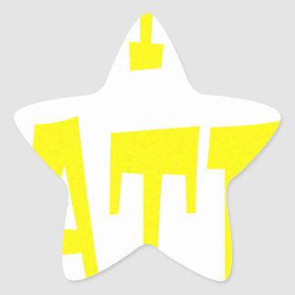 Gator Hater Yellow design Star Stickers