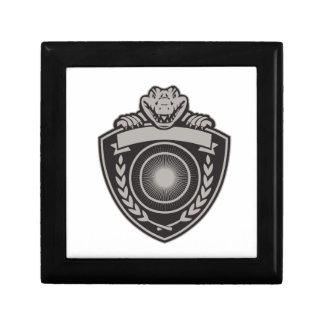 Gator Head Coat of Arms Retro Small Square Gift Box