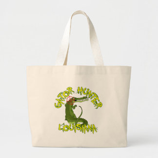 Gator Hunter Louisiana Large Tote Bag