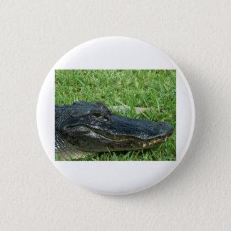 Gator in grass 6 cm round badge