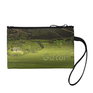 Gator Lurking in Duckweed - Nature Photograph Coin Wallet