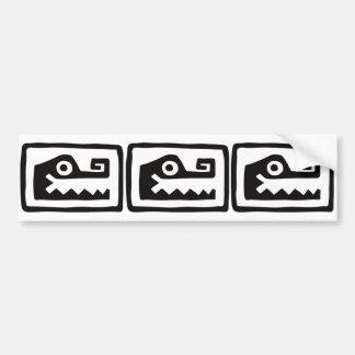 Gator, Mexican hieroglyph(Maya) Bumper Sticker