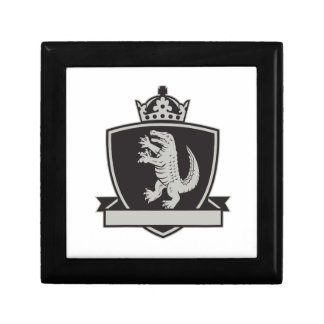 Gator Standing Side Coat of Arms Crest Retro Small Square Gift Box