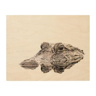 Gator Wood Wall Art Wood Print