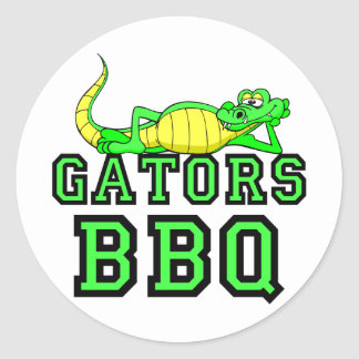Gators BBQ Round Sticker