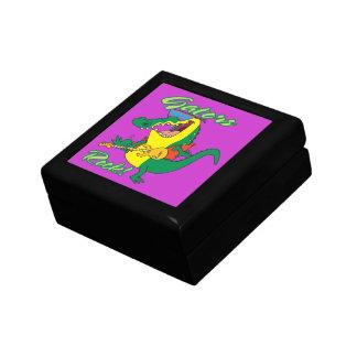 gators rock rock n roll alligator cartoon small square gift box