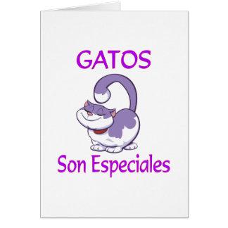 Gatos Especiales Card