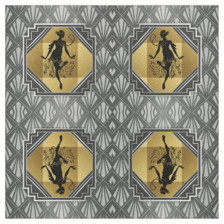 Gatsby Flapper Art Deco Fabric