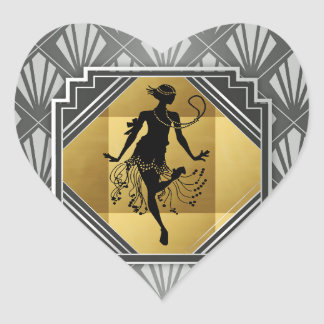 Gatsby Flapper Art Deco Stickers