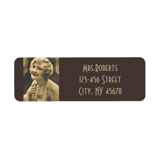 gatsby girl bachelorette vintage bridal shower return address label