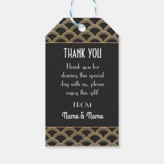 Gatsby Thank you Tags 1920's Tags Twenties Wedding