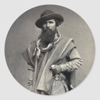 Gaucho of the Argentine Republic 1868 Round Sticker