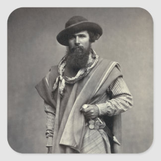 Gaucho of the Argentine Republic 1868 Square Sticker