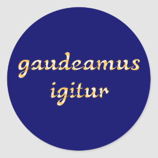 gaudeamus igitur latin latin sticker
