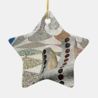 Gaudi Castle Abstract Christmas Ornament