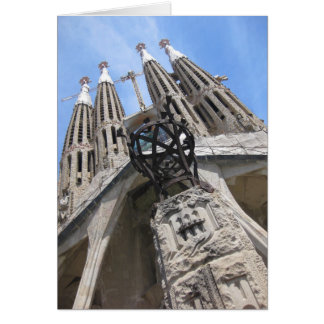 Gaudi Cathedral Barcelona Spain Greeting Cards