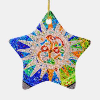 Gaudi Detail Blue Christmas Ornament
