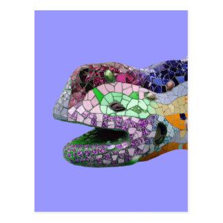 Gaudi Lizard Head Mosaics Postcard
